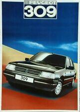Peugeot 309 Sales Brochure - August 1986