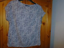 Beige, black, brown animal print style top, ATMOSPHERE, size 8, office or casual