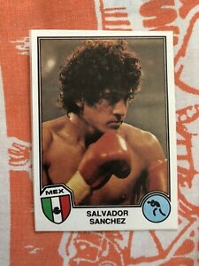 1982 Supersport Panini Salvador Sanchez Boxing Card Recovered Mexico World Champ