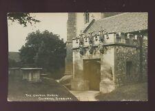 Gloucester Glos CHIPPING SODBURY Church Porch c1910/20s? RP PPC pub Dowding