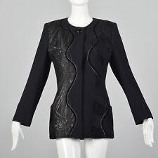Small Koos Van Den Akker 1990s Blazer Vintage Fabric Collage 90s Black DeWilde