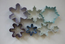 WILTON Snowflakes Metal Cookie Cutter Set 7pcs - various sizes