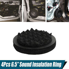 "4Pcs 6.5"" Car Door Speaker Adapter Ring Subwoofer Noise Insulation Foam Cushion"