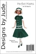 """Perfect Pleated Doll Clothes Sewing Pattern for 16"""" Deja Vu Dolls Tonner"""