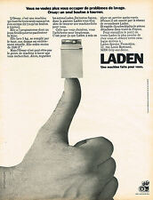PUBLICITE  1974   LADEN  lave linge  machine à laver ORSAY