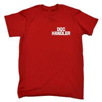 Dog Handler Breast And Back MENS T-SHIRT tee trainer uniform workwear walker