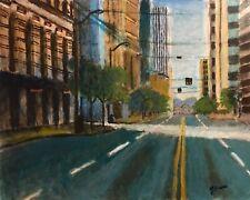 Jeffrey Lloyd Barnes Original 16x20 Landscape Painting Cityscape Seattle