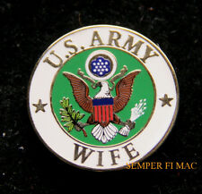 US ARMY WIFE HAT LAPEL PIN UP USA VETERAN VET MOM DAD SON EAGLE GIFT WOW