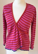Quirky Mexx striped wrap around cardigan in cotton, small 10