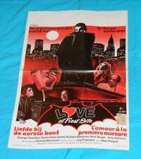 original LOVE AT FIRST BITE Belgian movie poster