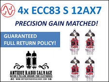 New JJ Electronics (Tesla) Precision Gain Matched QUAD (4x) ECC83-S 12AX7 Tubes