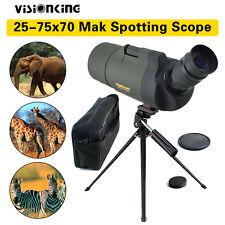 Visionking 25-75x70 Maksutov MAK Angled Spotting Scope Zoom Bak4 w/ Tripod Case