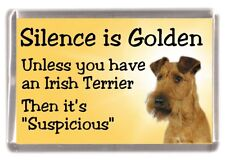 "Irish Terrier Dog Fridge Magnet ""Silence is Golden .............."" by Starprint"