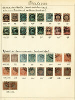 Italy Stamps Revenues Lot of 34x 1871-1891 on Antique page