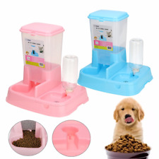 Pet Cat Dog Automatic Water Drinker Dispenser Food Feeder Dish Bowl with Bottle