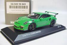 1:43 MINICHAMPS 2015 PORSCHE 911 991 GT3 RS viper green CUSTOMIZED LE 33 pcs.