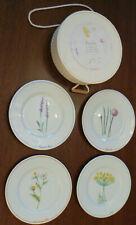 4 Porcelain salad / dessert plates LSA International - John Lewis HERBS on white