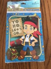 Jake and the Neverland Pirates Pack of 8 Invitations Ships N 24h