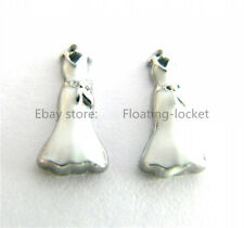 10pcs Wedding Dress Floating charms For Glass living memory Locket FC0782
