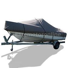 Premium TRI-Hull Trailerable Skiff Jon fishing boat cover 18.5'-19.5' L grey