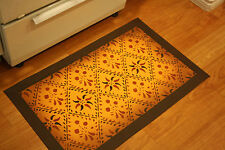"Floorcloth 2'x3' ""Concerto"" Expertly hand-crafted oil cloth floor cloth"