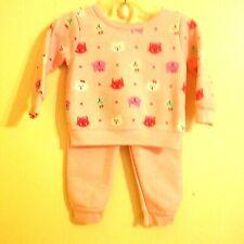 """Garanimals 12Mo """"Sweat Suit""""Kitties On Pink Shirt Pink Pants W/Ribbed Cuffs Lik"""
