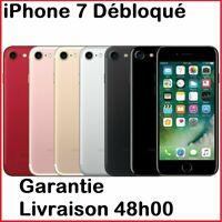 Apple iPhone 7 32 Go 128Go, Débloqué, Noir, Or Rose, Argent, ROUGE bon état PRO