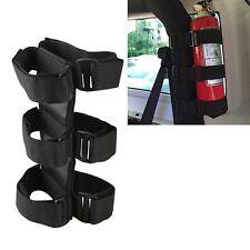 Black Adjustable Roll Bar Fire Extinguisher Holder Carrier Kit Fr Jeep Car Truck