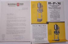 1931 Lamson Goodnow Hydraulic Press Mfg Mount Gilead OH Pamphlet Ephemera L663D