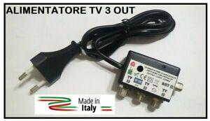 ALIMENTATORE RETRO TV PER AMPLIFICATORE DIGITALE TERRESTRE 3 USCITE 12V 220mA F
