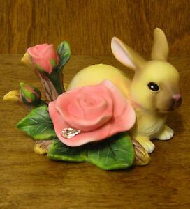 In The Flower Garden #4027616 BUNNY w/ ROSE, by Dean Griff, MIB from Enesco