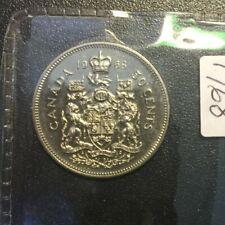 1968 CANADA 50 cent  unc.coin ,logo Elizabeth II, half dollar from mint roll..