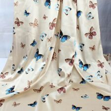 1 Meter Butterfly Imitated Silk Satin Fabric Charmeuse Soft Bridal Dress Making