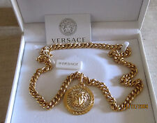 NWT $1295 AUTH. GIANNI VERSACE NECKLACE GOLDEN RHINESTONE CRYSTAL MEDUSA PALAZZO
