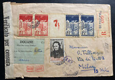 1942 Bergerac France VLF Waffen SS Tricolor Tabs Censored Cover To Milan Italy