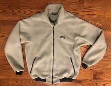 Patagonia Vintage VTG Gray Fleece Full Zip Jacket Men's XL 25011