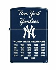 """Zippo """"New York Yankees"""" 27 Times Wold Series Champs, Navy Blue, 8221"""