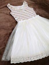 LIZ LISA Stiriped+Tulles Docking dress Summer Ribbon Fluffy Japan Hime SizeM 109