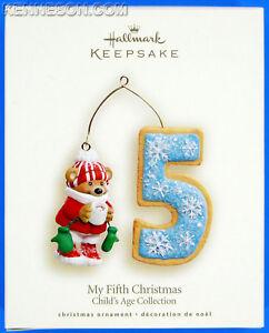 My Fifth Christmas Child's Age Collection 5th Hallmark Keepsake Ornament 2008