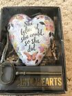 """Art Heart """"She Believed She Could"""" Sculpted Wings with Key Stand by  Demdaco"""