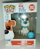Funko Pop films La vie secrète des animaux de compagnie #293 Max floqué-Vinyl Figure NEW