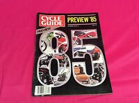 CYCLE GUIDE MOTORCYCLE MAGAZINE DECEMBER 1984 1985 PREVIEW GPX500R HONDA (Y307)
