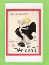 T. S. F. Pericaud old Radio Music Advertising card Cherub Cupid Armand Rapeno