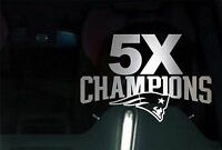 New England Patriots 5X Champions CHROME Decal Vinyl Truck Car Window STICKER