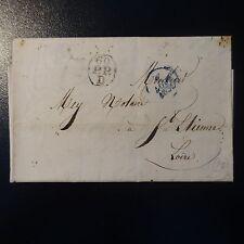 MARQUE POSTALE LETTRE COVER PARIS 60 / P.P. / D + CAD BLEU 2 AOÛT 1830