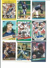Houston Astros 9 Card Autographed Lot
