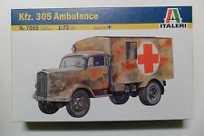 ITALERI 1:72 KIT AMBULANZA MILITARE KFZ. 305 AMBULANCE LUNGHEZZA 8,2 CM ART 7055
