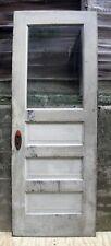 "30""x80"" Antique Vintage Wood Wooden Side Back Entry Door Window Old Wavy Glass"