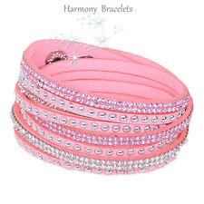 Baby Pink Swarovski Elements Wrap Slake Bracelet by Harmony Bracelets