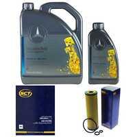 Inspektionspaket 6L Mercedes Öl 229.5 5W40+ SCT Luftfilter Ölfilter 11108768